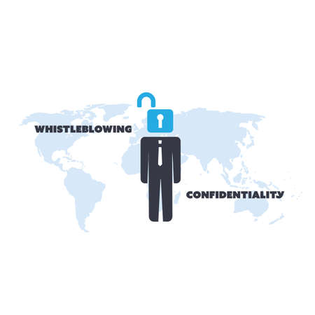 confidentiality: Whistleblowing and Confidentiality Problem - Panama Papers Concept Design Illustration