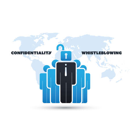 politican: Whistleblowing and Confidentiality Problem - Panama Papers Concept Design Illustration