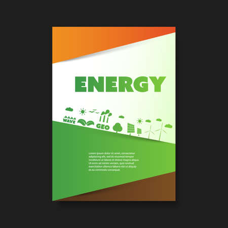 bio safety: Eco Flyer Design Template - Renewable Energy Theme