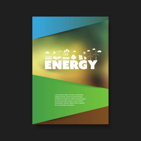 Eco Flyer Design Template - Renewable Energy Theme Vector Illustratie