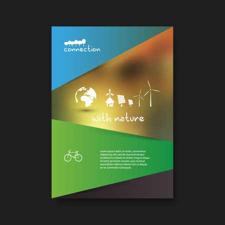 logos de empresas: Eco Flyer plantilla de diseño - Tema de energía renovable