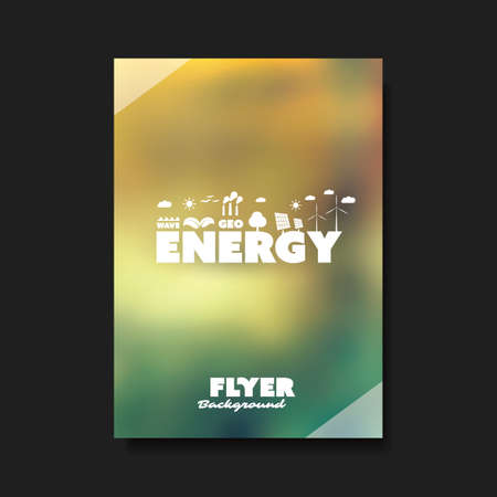 energia renovable: Eco Flyer Design Template - Renewable Energy Theme
