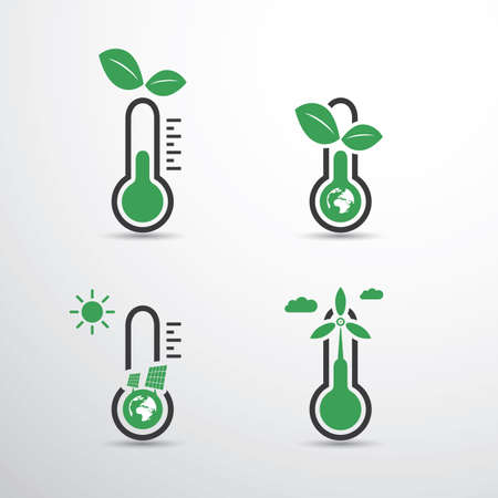 problems solutions: Global Warming, Ecological Problems And Solutions - Thermometer Icon Designs