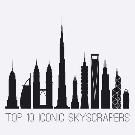 iconic: Iconic Skyscrapers Illustration