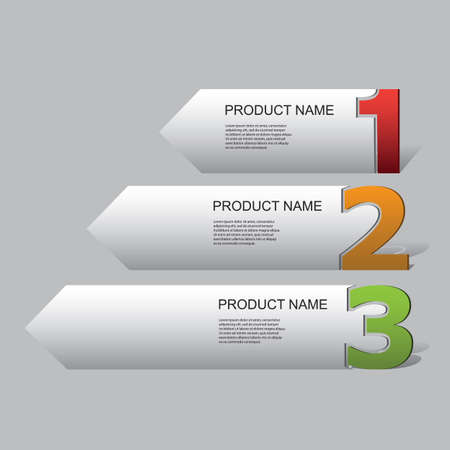 numbered: Business Infographic Template -  Abstract Numbered Arrow Shapes