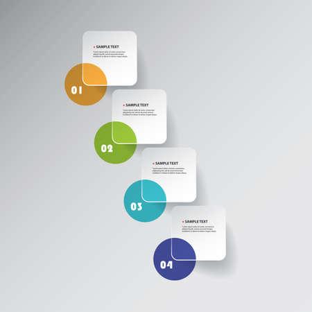 next: Colorful Minimal Paper Cut Infographics Design, Presentation Template - Round Squares