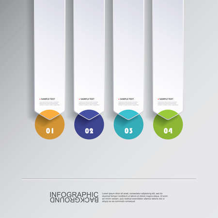 set up: Colorful Minimal Paper Cut Infographics Design, Presentation Template - Rounded Arrows