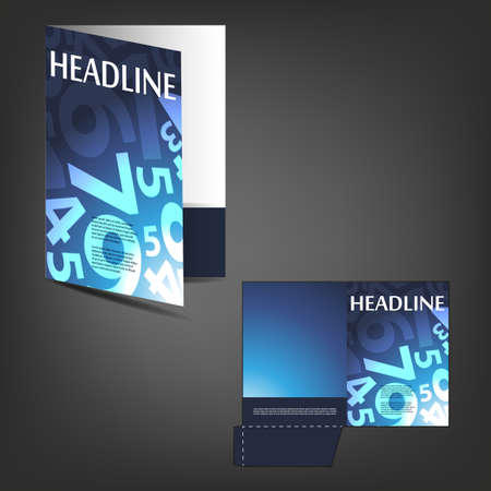 die cut: Corporate Folder with Die Cut Design
