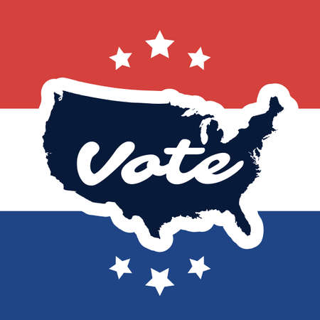 voting: USA Voting Design Concept with Map