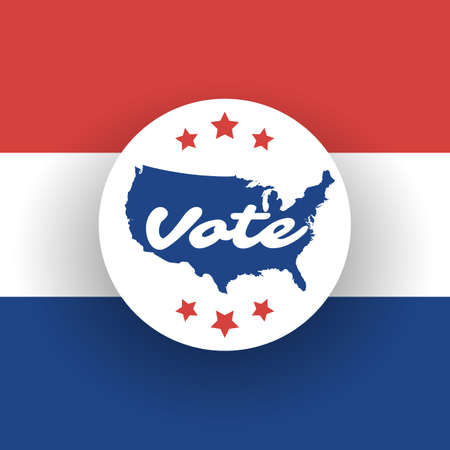 Usa Voting Design Concept With Map Royalty Free Cliparts Vectors