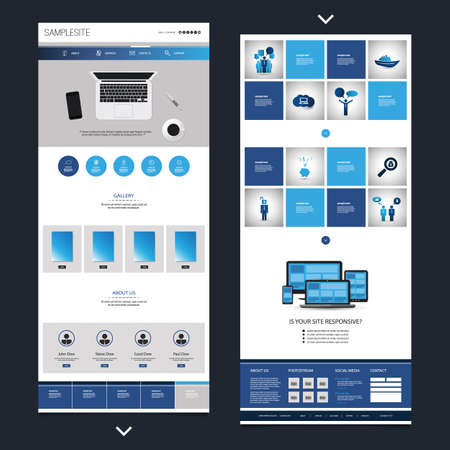 website template: One Page Website Design Template for Your Business