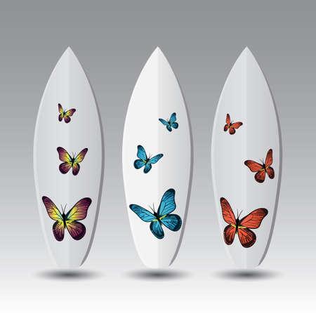Vector Surfboard Design Templates