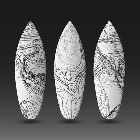 Vector plantillas de diseño de tablas de surf Ilustración de vector