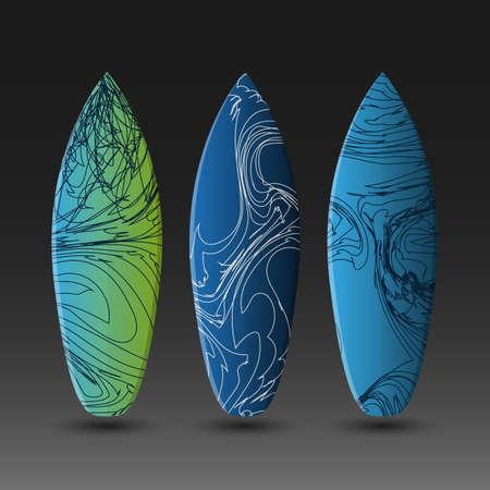 granola: Vector plantillas de diseño de tablas de surf