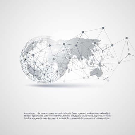 Concept d'informatique en nuage et de réseaux Banque d'images - 59004811