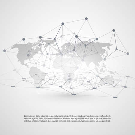 wireframe globe: Cloud Computing and Networks Concept