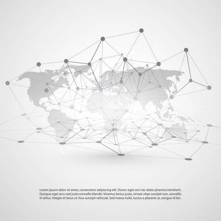 Cloud Computing and Networks Concept Vektoros illusztráció