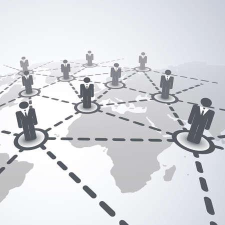 network connections: Network Concept - Business Connections
