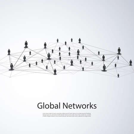 Réseaux - Business Connections Global - Social Media Concept design