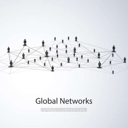 Networks - Global Business Connections - Social Media Concept Design