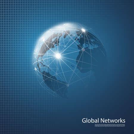 infraestructura: Cloud Computing y Redes concepto de diseño en fondo azul