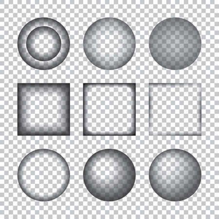 side effect: Transparent Realistic Shadow Effects. Vector illustration. Design Elements on Checkered Background