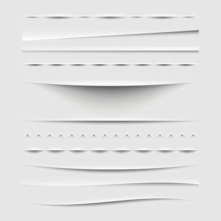 rip: Web Dividers and Shadows Template - Design Elements Set
