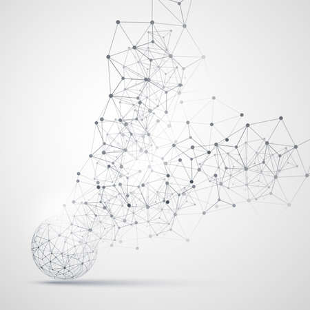 Abstract Cloud Computing and Network Connections Concept Design with Transparent Geometric Mesh, Wireframe Sphere Reklamní fotografie - 60299595