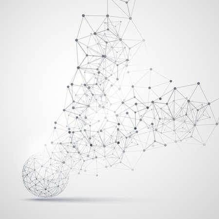 Abstract Cloud Computing en netwerkverbindingen Concept Design met transparante geometrische Mesh, Wireframe Sphere Stock Illustratie