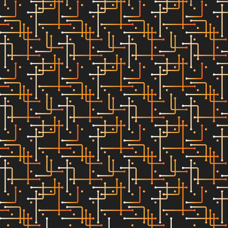 abstract pattern: Networks, Connections - Mesh Pattern - Abstract Vector Background Illustration