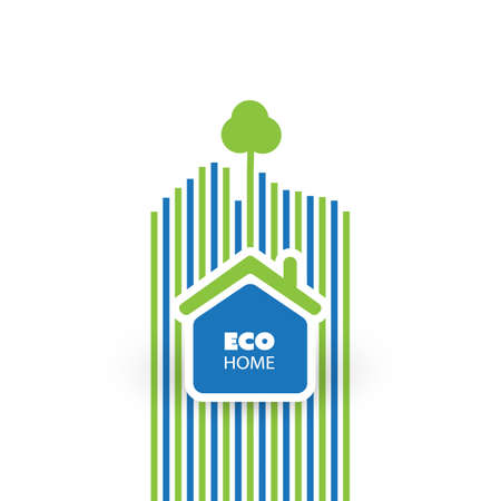 Green Eco Friendly Home Concept