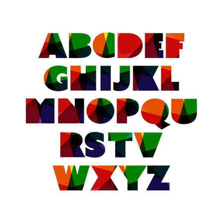 font design: Modern Colorful Bold Font Set Design