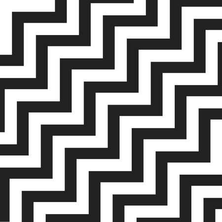 zag: Black and White Zig Zag Lines Pattern - Background Design Illustration