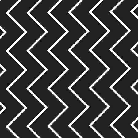 zig: Black and White Zig Zag Lines Pattern - Background Design Illustration
