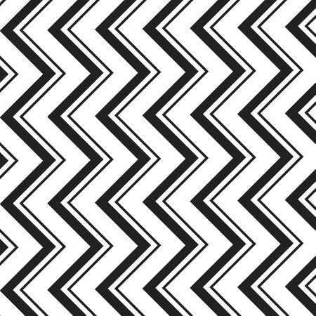 zag: Black and White Zig Zag Lines Pattern - Background Design Illustration