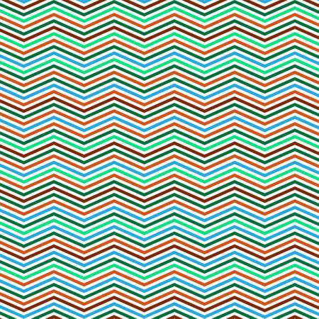 zig: Colorful Zig Zag Lines Pattern - Background Design