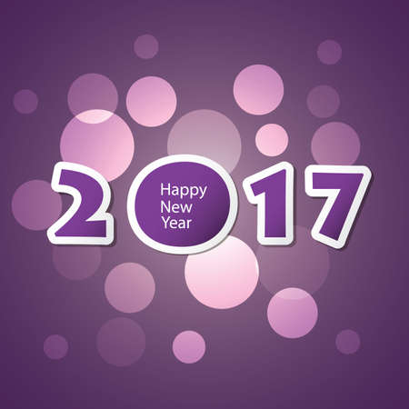 new year greeting: Best Wishes - Abstract Modern Style Happy New Year Greeting Card or Background, Creative Design Template - 2017