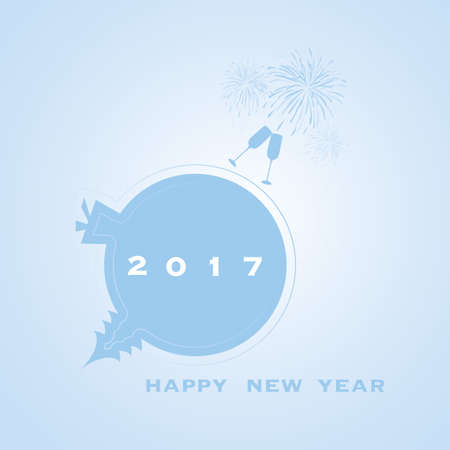 new year card: New Year Card - 2017