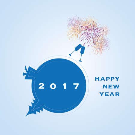 year: New Year Card - 2017