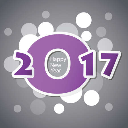 Auguri - Estratto moderno stile Happy New Year Greeting Card o di sfondo, Creative Design Template - 2017