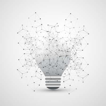 peer to peer: Resumen Cloud Computing y la Red Global de Diseño concepto conexiones con la bombilla, malla geométrica transparente