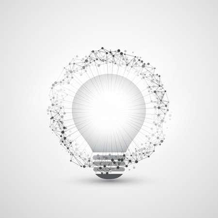 peer to peer: Resumen estilo moderno Cloud Computing, Tecnología y Diseño Global Concepto de conexiones de red con la bombilla, transparente geométrica estructura de malla, anillo del marco del alambre Vectores