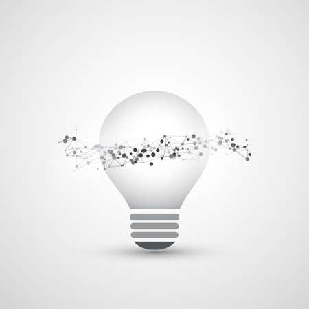 peer to peer: Computación en la nube abstracta y conexiones de red globales Diseño conceptual con bombilla, malla geométrica transparente, onda de alambre