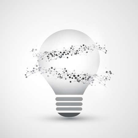 peer to peer: Resumen Electricidad, Cloud Computing y la Red Global de Diseño concepto conexiones con el globo de la tierra dentro de una bombilla, malla geométrica transparente