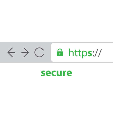 padlock icon: Browser Address Bar Showing Https Protocol - Secure Browsing and Connections Trend
