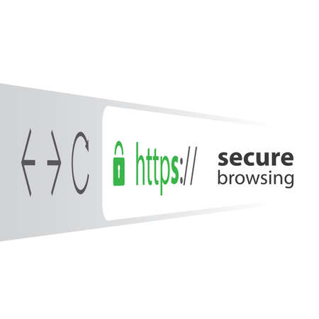 https: 3D Browser Address Bar Showing Https Protocol - Secure Browsing and Connections Trend