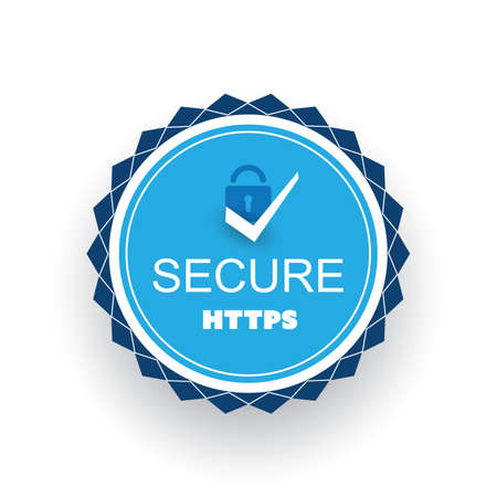 Secure-Website-Zertifikat-Abzeichen Vektorgrafik