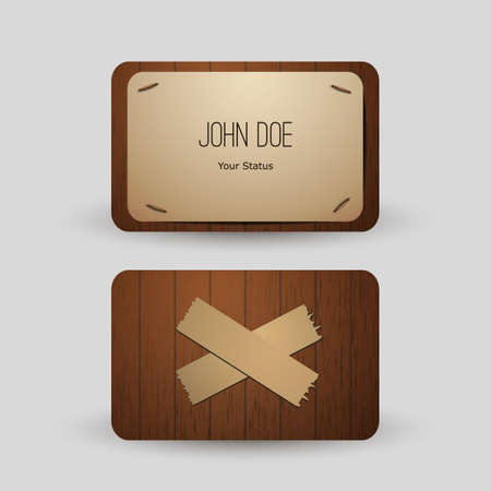 stapled: Business Card Template Illustration