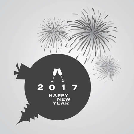 new year card: New Year Card Background - 2017