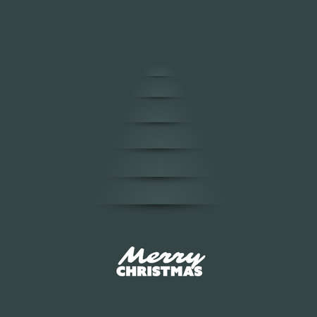 greetings card: Modern Abstract Christmas Greetings Card Design With Christmas Tree Background